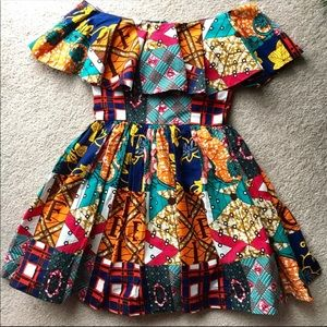 Dresses & Skirts - Patchwork Off-the-Shoulder Ankara Dress